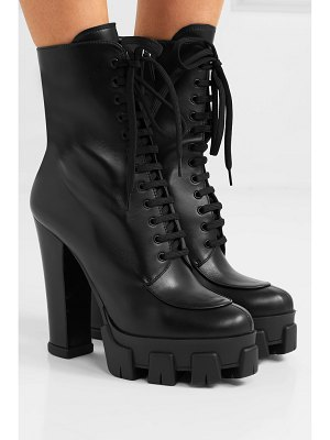 Prada 130 leather ankle boots