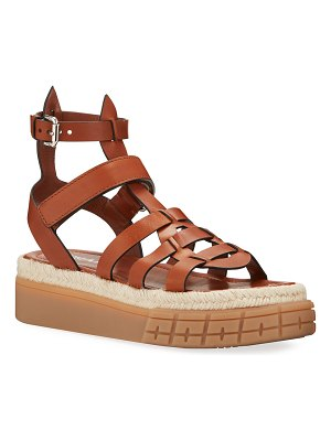 Prada 45mm High Gladiator Sandals