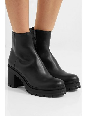 Prada 55 leather ankle boots