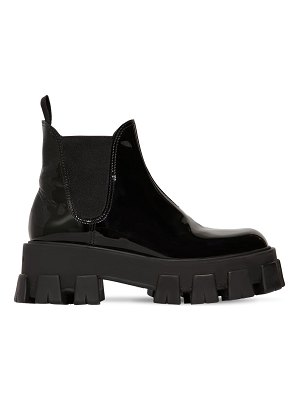 Prada 55mm patent leather beatle boots