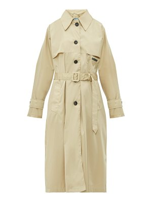 Prada belted waist gabardine nylon trench coat