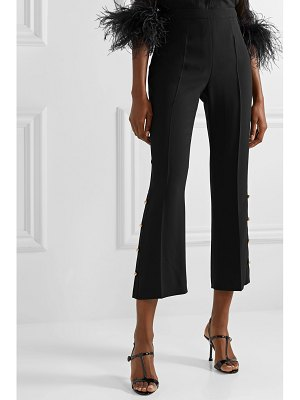 Prada button-embellished crepe wide-leg pants
