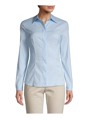 Prada Button-Front Cotton-Blend Shirt