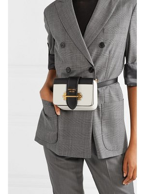 Prada cahier smooth and textured-leather belt bag