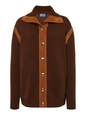Prada cashmere button down top