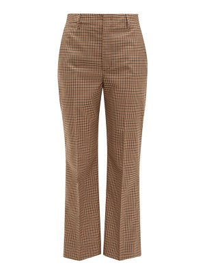 Prada checked wool blend trousers