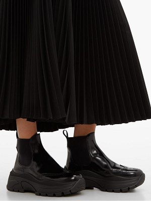 Prada chunky sole patent leather ankle boots