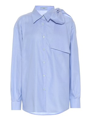 Prada cold-shoulder cotton poplin shirt