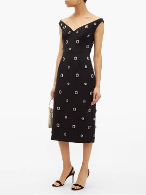 Prada crystal embellished cady midi dress