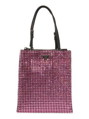 Prada crystal embellished crossbody bag