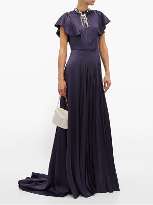 Prada crystal embellished satin gown