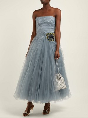 Prada crystal embellished tulle gown