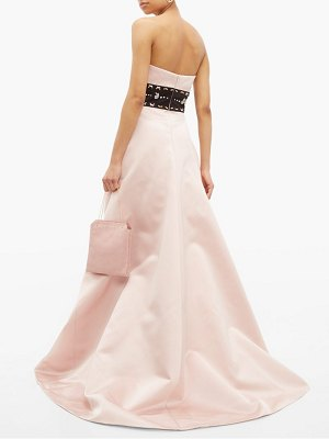 Prada crystal waistband silk satin gown