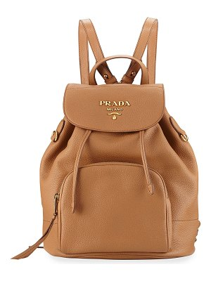 Prada Daino Leather Drawstring Backpack