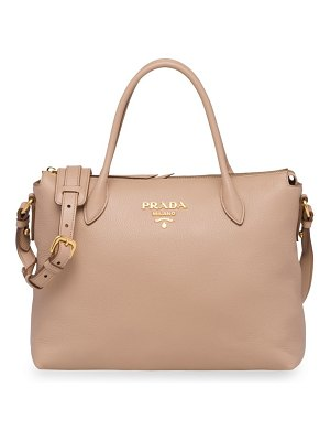 Prada daino leather top-zip tote