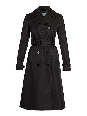 Prada double breasted trench coat