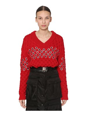 Prada Embellished wool knit sweater