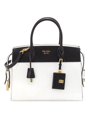 Prada Esplanade Medium Bicolor City Satchel Bag