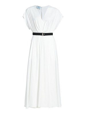 Prada fluid jersey belted midi dress