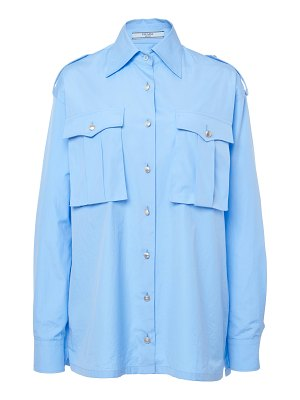 Prada button-detailed cotton shirt