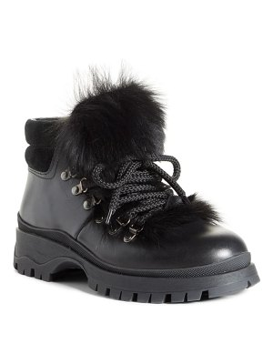 Prada genuine shearling trim hiking boot