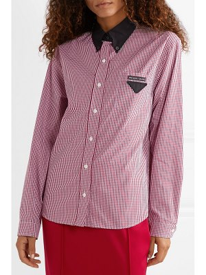 Prada gingham cotton-poplin shirt