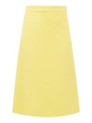 Prada high-rise a-line wool skirt