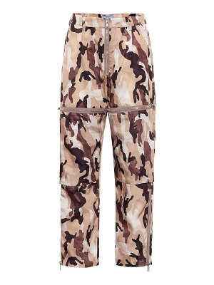 Prada high-rise straight camouflage pants