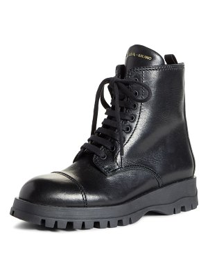 Prada lace-up combat boot