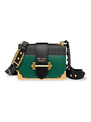 Prada leather cahier colorblock satchel