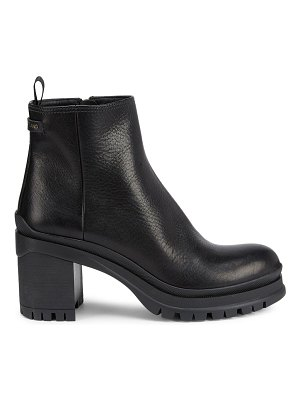 Prada lug-sole leather ankle boots