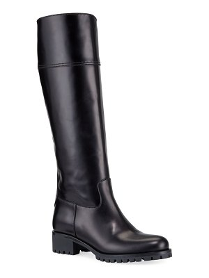 Prada Leather Riding 40mm Boots