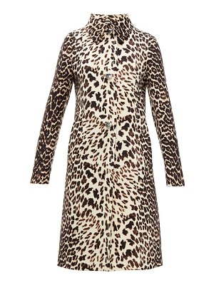 Prada leopard print single breasted wool coat
