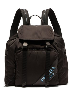Prada logo nylon backpack