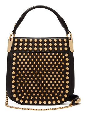 Prada margit city small studded leather cross body bag