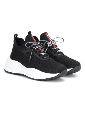 Prada mesh and neoprene sneakers