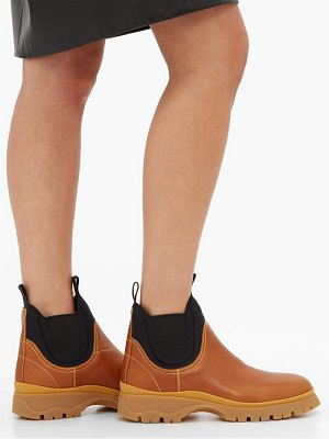 Prada neoprene and leather chelsea boots