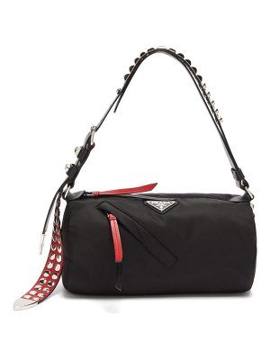 Prada new vela cylindrical nylon shoulder bag