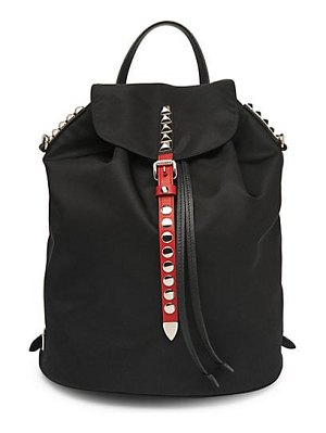 Prada nylon backpack with studding