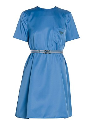 Prada patch pocket belted swing dress