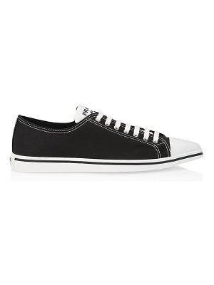 Prada point-toe canvas sneakers