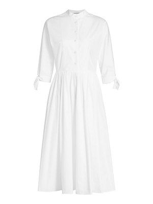 Prada poplin pleated shirtdress
