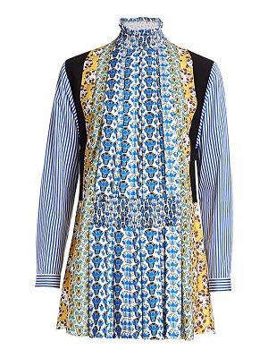 Prada raso mixed print shirtdress
