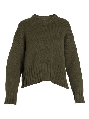Prada ribbed cashmere high-low sweater