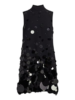 Prada ricamo sequin shift dress