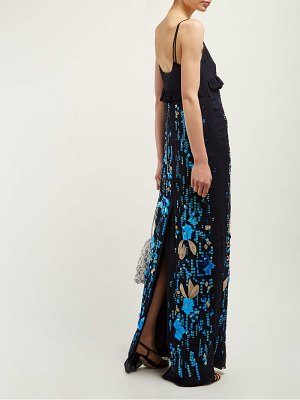 Prada sequinned silk chiffon gown
