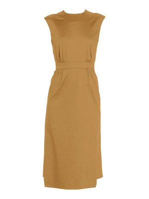 Prada sleeveless wrap pencil dress