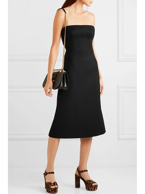 Prada strapless wool-gabardine midi dress