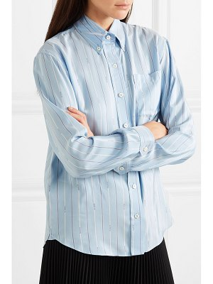 Prada striped silk-satin shirt