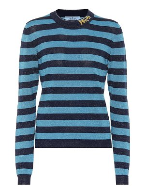 Prada striped wool-blend sweater